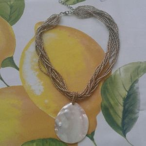 Jewelry - 10 Strand Beaded Shell Necklace